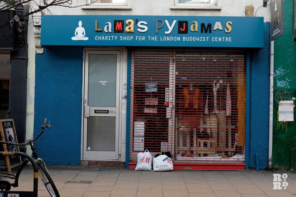 Lama's Pyjamas, charity shop for the London Buddhist Centre