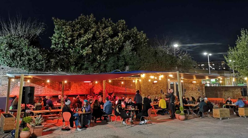 Genesis cinema's The Yard bar, a new addition to the outdoor hospitality scene.