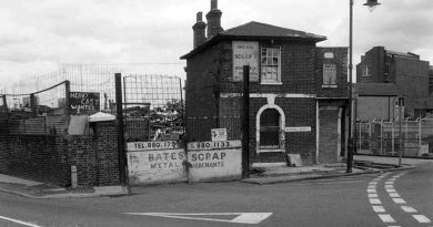 Pelican Cottage in the 1970s when the yard was Bates Scrap Metal Merchants.