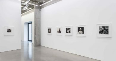 Black and White photographs line the walls of the Maureen Paley Gallery