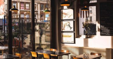 Tables in Ombra, one of Bow's Best Restaurants for Large Groups