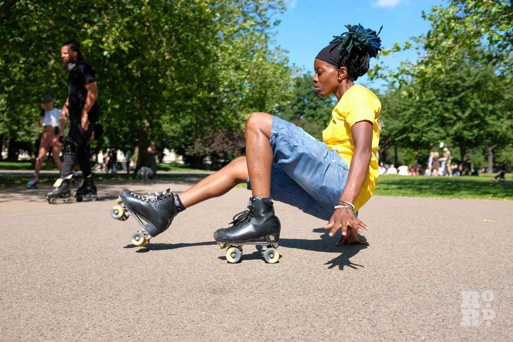 roller skating, Victoria Park, East London.