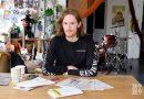 Artist Wedgley Snipes at his studio flat.