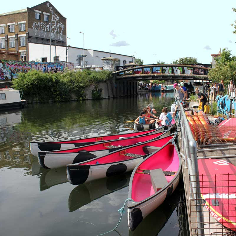 Moo Canoe and Milk Float boozy canal party competition