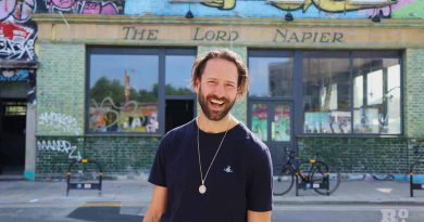 Rob Star, from Electric Star Pubs, standing out side the Lord Napier Star in Hackney Wick, East London.