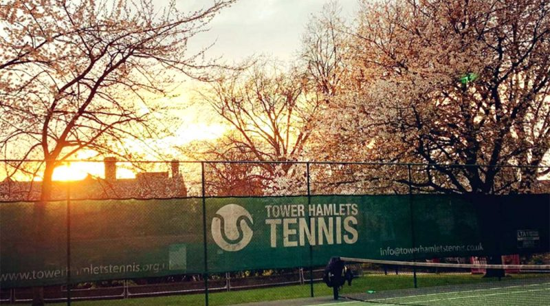 Tower Hamlets Tennis courts, East London.