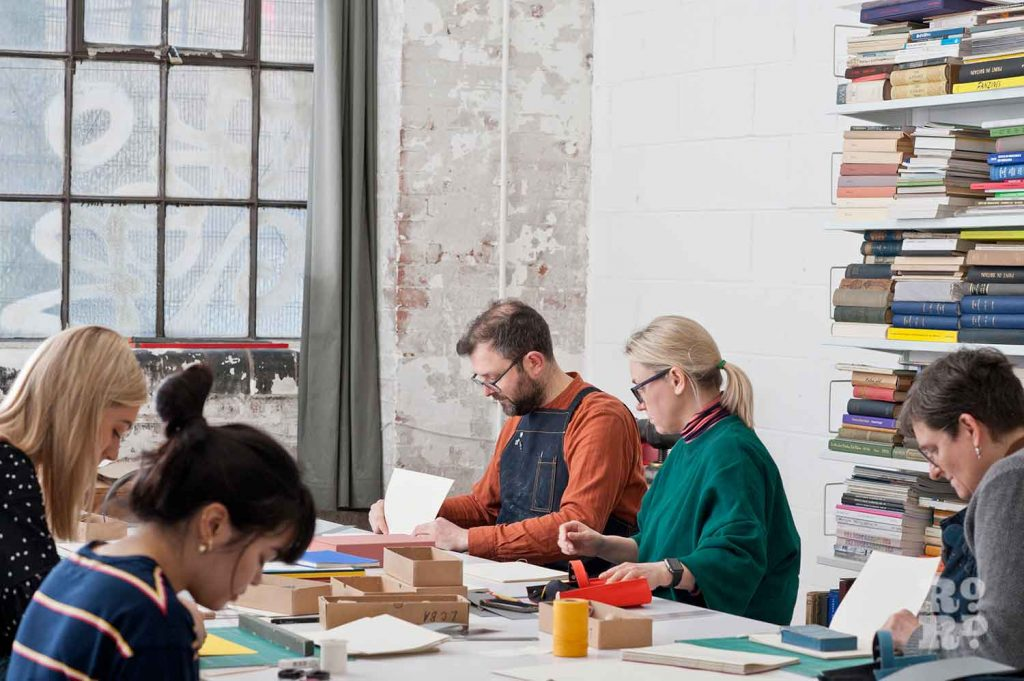 Students learn the art of bookmaking at the London Centre for Book Arts