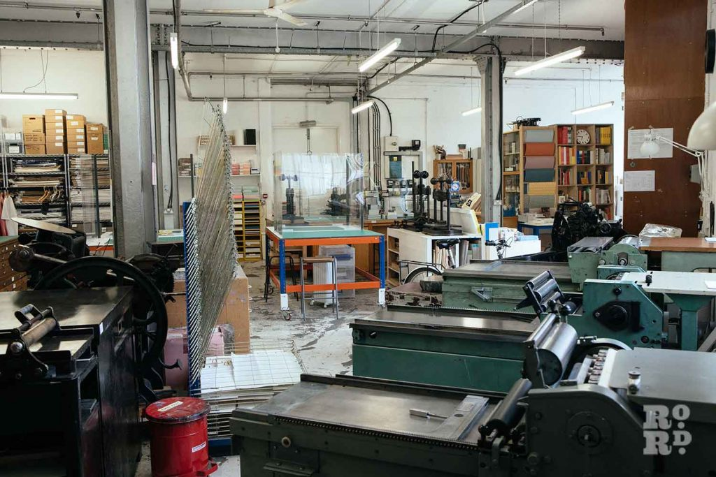 Printing machines, books and presses at the London Centre for Book Arts