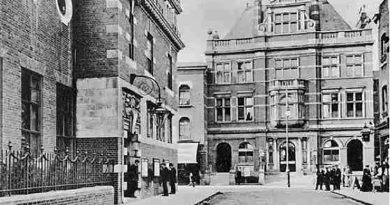Heritage black and white image of Bow Public Baths