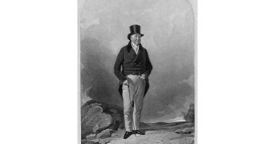 Black, grey and white pencil portrait of Sir Charles Morgan, 2nd Baronet