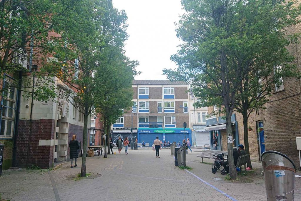 Site of former Bow Baths, Roman Road, East London.