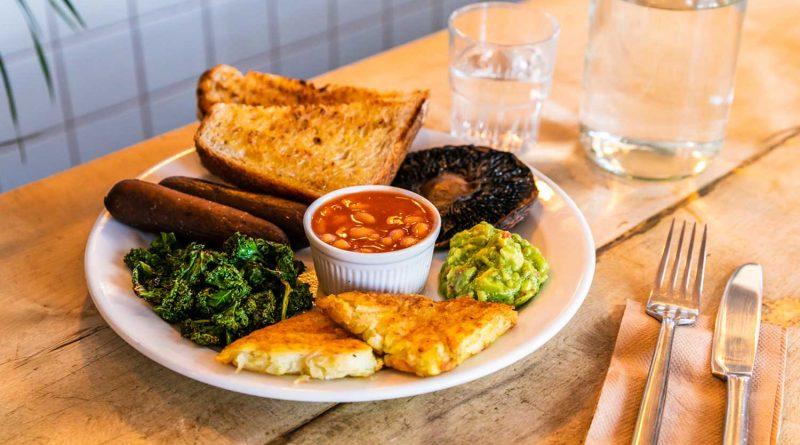 The veggie breakfast, The Breakhouse Cafe, Fish Island.
