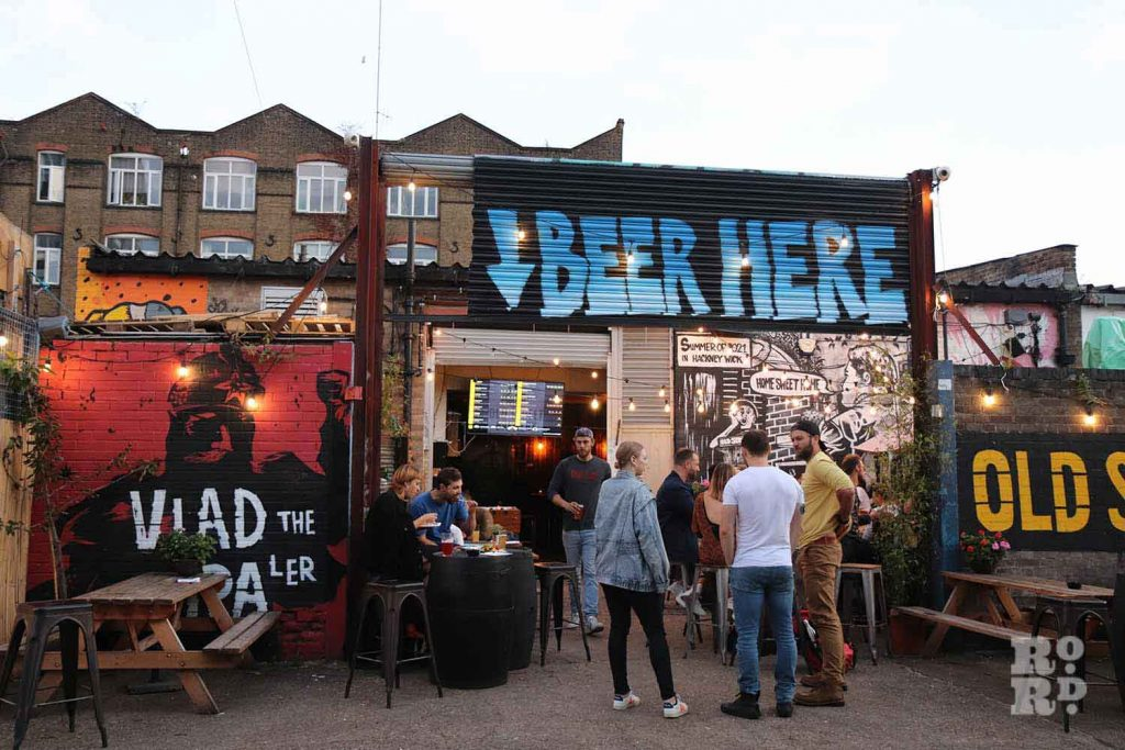 Beer Here, Hackney Wick Horseshoe, East London.