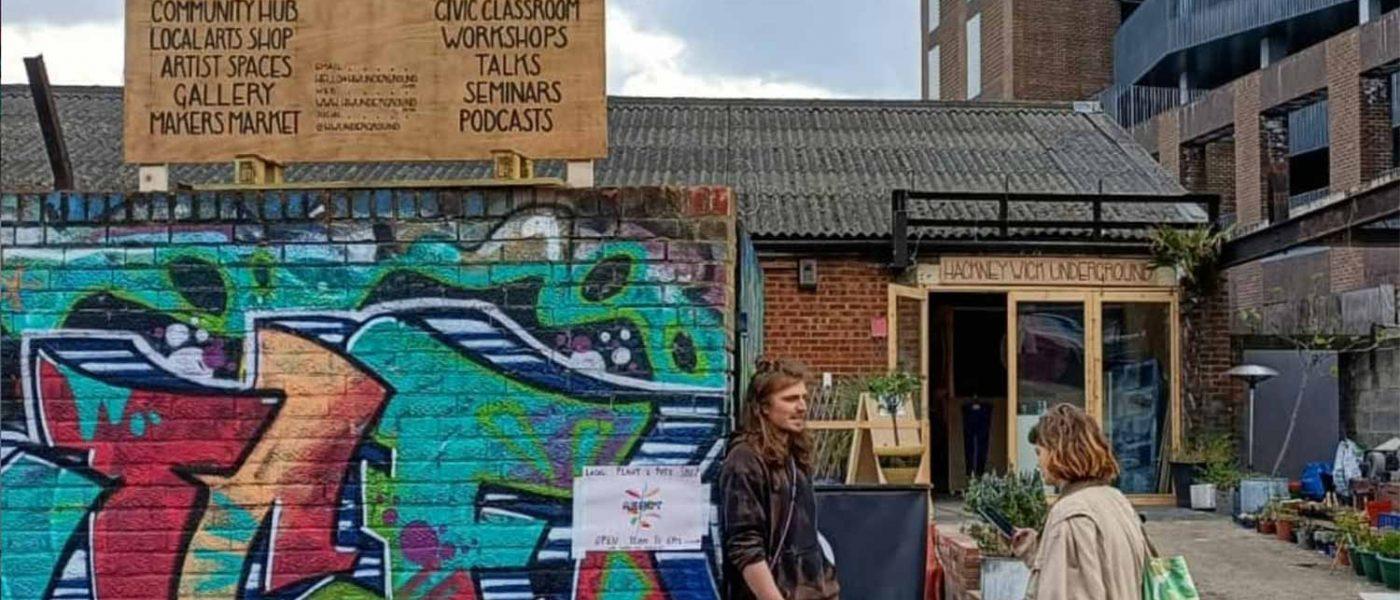Hackney Wick Underground market, a creative space in Hackney Wick, East London.