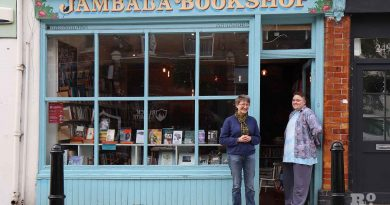 Jambala Bookshop, Globe Road, off Roman Road, Bethnal Green. Employees Polly Welsby (R) and Heather Belcher