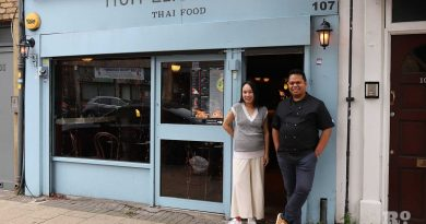 Tanakrit and Supap Pimpa, owners of Mum Likes Thai Food, Thai restaurant on Roman Road in Globe Town, East London.